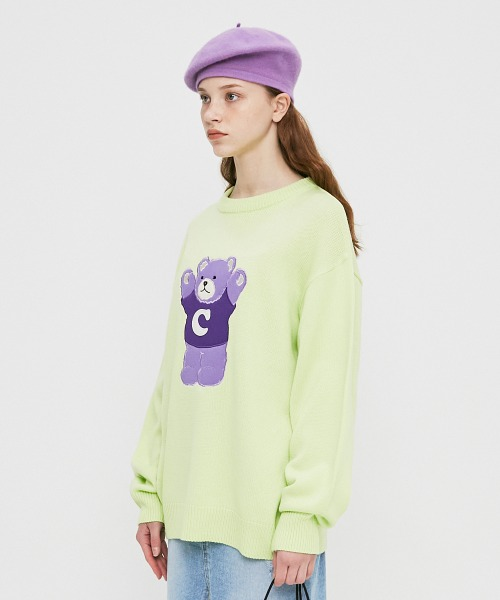 Signature Bear Knit_Neon