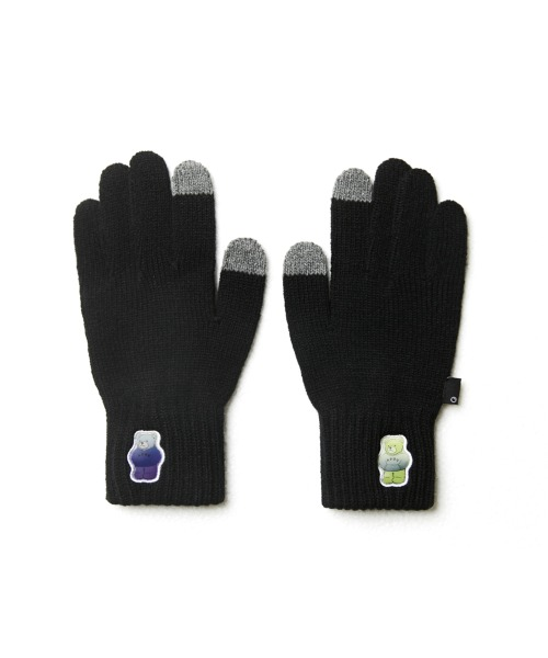 Double Patch Glove_Black