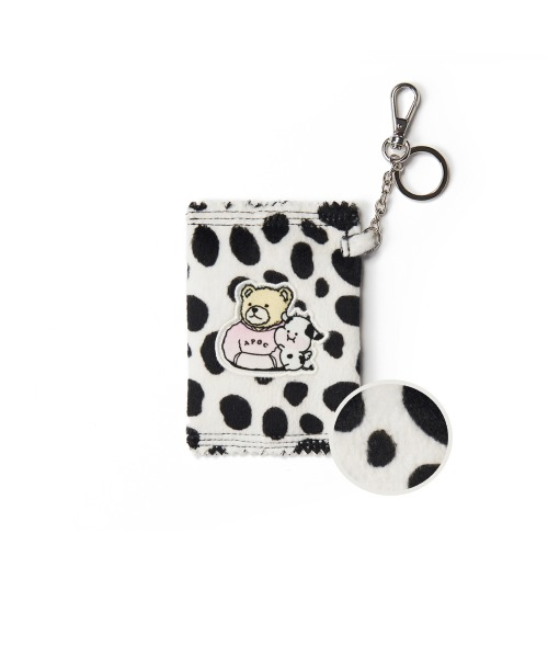 Cow Pattern Mini Wallet_Ivory